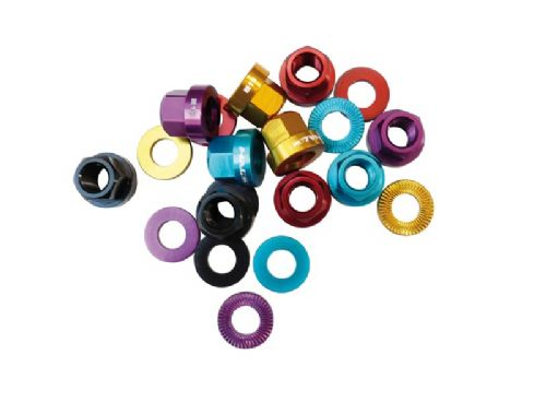Halo Alloy Axle Nuts... inc Washers
